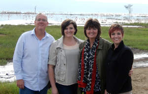 From Left: David, Rebecca, Carol, and Rachel Polley