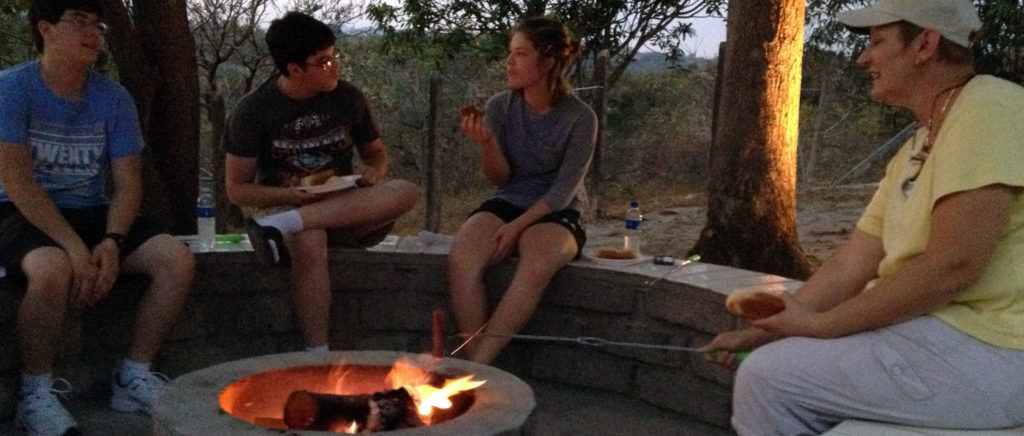 Hot dogs and s'mores in El Salvador